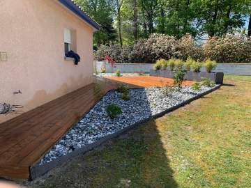 Aménagement d'une terrasse avec création de jardinière sur Dax